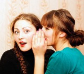 The girl shares the secrets of her friend