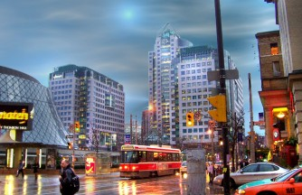 Ontario-Toronto-Downtown-At-Dusk
