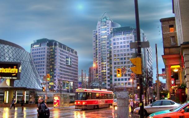 Ontario-Toronto-Downtown-At-Dusk